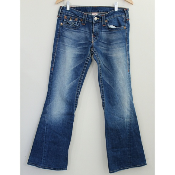 True Religion Denim - True Religion Joey Jean Flare Twisted Seam…